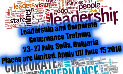 Leadership and Corporate Governance Training
