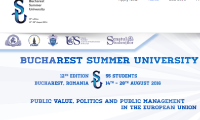 Bucharest Summer University 2016