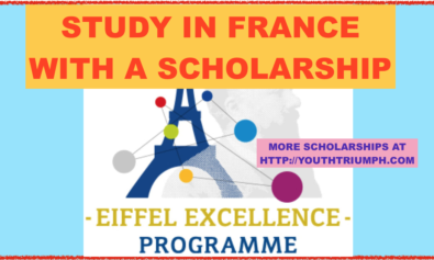 STUDY IN FRANCE WITH 2019 EIFFEL SCHOLARSHIP_ SCHOLARSHIPS_EIFFEL SCHOLARSHIP PROGRAM OF EXCELLENCE_youthtriumph.com