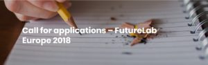 Call for Applications, FutureLab Europe 2018 in Brussels, Belgium