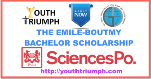 THE EMILE-BOUTMY BACHELOR SCHOLARSHIP_SCHOLARSHIPS_SciencesPoParis_youthtriumph.com