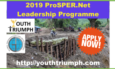 2019 PROSPER.NET LEADERSHIP PROGRAMME _Training_youthtriumph.com