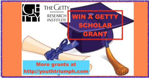 WIN A GETTY SCHOLAR GRANT_Getty Scholar Grants_youthtriumph.com